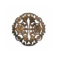 Vintaj Natural Brass Garden Trellis Filigree Stamping 38mm (1)