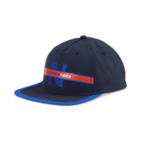 Nautica Mens Heritage Logo Baseball Cap, Blue, One Size - One Size