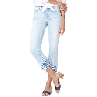 NYDJ Womens Sheri Ankle Jeans Mid-Rise Light Wash