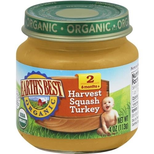Earth's Best - Organic Harvest Squash Turkey Dinner ( 12 - 4 OZ)