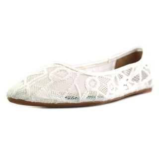 Penny Loves Kenny Knot Women  Round Toe Synthetic White Flats
