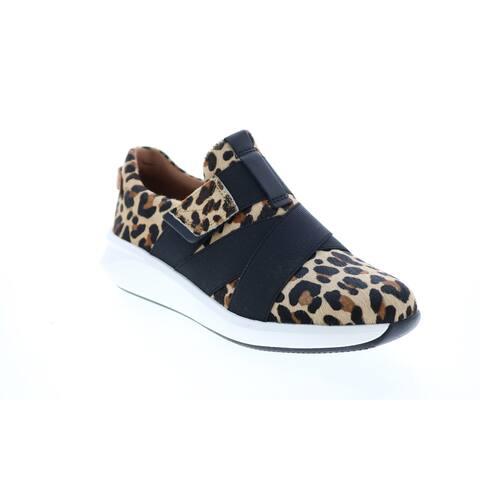 Clarks Un Rio Strap Leopard Womens Lifestyle Sneakers