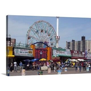 """""""Coney Island, Brooklun, NYC"""" Canvas Wall Art"""