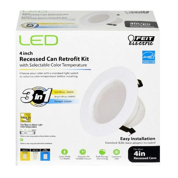 Shop Feit Electric Ledr4 4wyca Recessed Can Led Retrofit