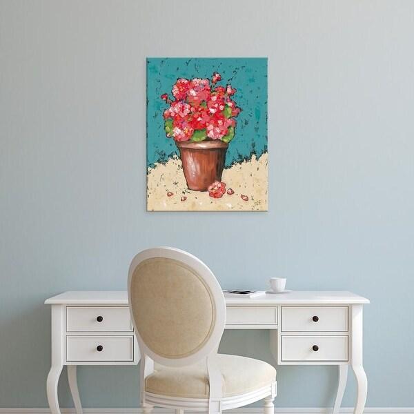 Easy Art Prints Jade Reynolds's 'Bright Geraniums' Premium Canvas Art