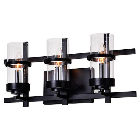The Gray Barn Freckled Fanny 3-light Wall Sconce with Black Finish