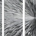 Statements2000 Silver 7 Panel Modern Metal Wall Art Sculpture by Jon Allen - Vortex - Thumbnail 3