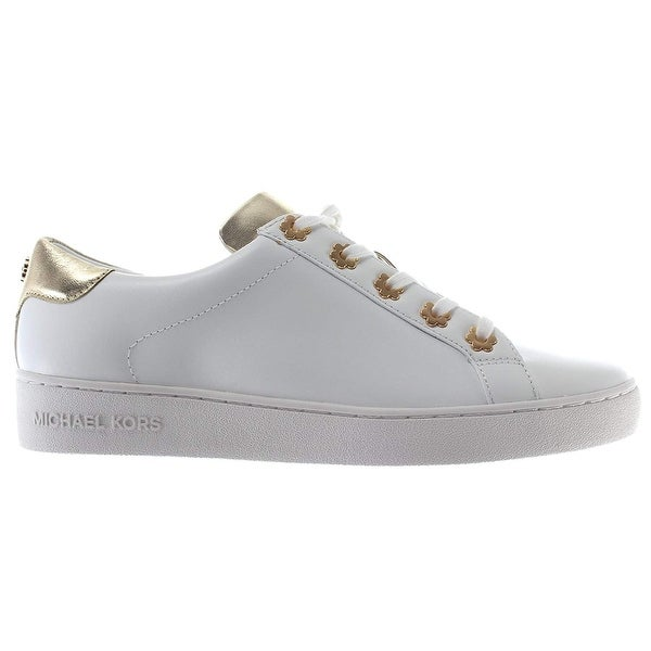 36996a7dd01c Michael Michael Kors Womens Irving Leather Low Top Lace Up Fashion Sneakers