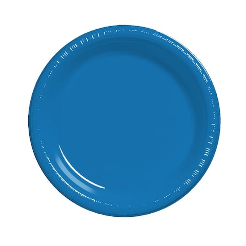 "Touch Of Color 20 Count 7"" Heavy Duty Plastic Plates True Blue - Multi"