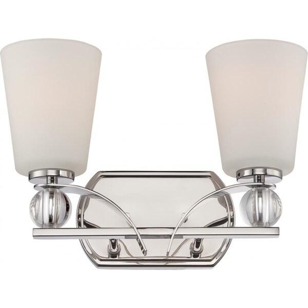 Nuvo Lighting 60/5492 Connie 2 Light Bathroom Vanity Light - Polished Nickel
