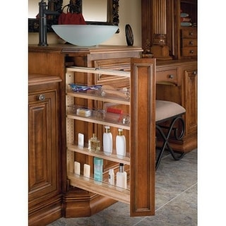 Rev-A-Shelf 432-VF26SC-6 432-VF Series 6 Inch Wide by 26 Inch High Vanity Cabinet Pull Out Filler Organizer with Polycarbonate
