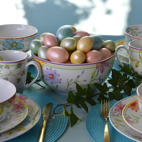 """Euro Ceramica Charlotte 9"""" Fruit/Vegetable Serving Bowl"""