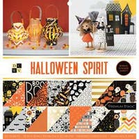 "Halloween Spirit - Dcwv Double-Sided Cardstock Stack 12""X12"" 32/Pkg"