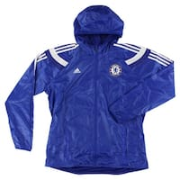 Adidas Mens Chelsea Anthem Jacket Blue - Blue/White - XL