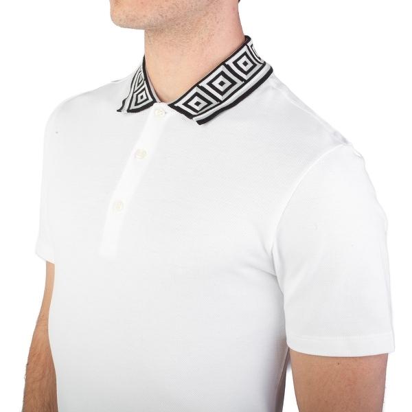 e15a88bd Versace Collection Men's Cotton Pique Baroque Collar Polo Shirt White