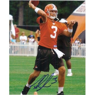 Signed Anderson Derek Cleveland Browns 8x10 Photo autographed