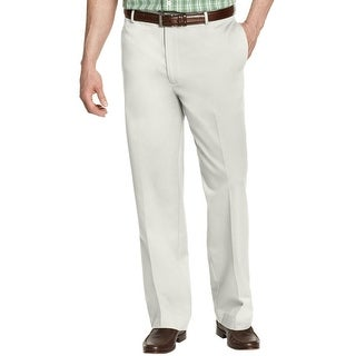 Izod Big and Tall Mens Classic Fit American Chino Pants Stone Beige 46 x 32