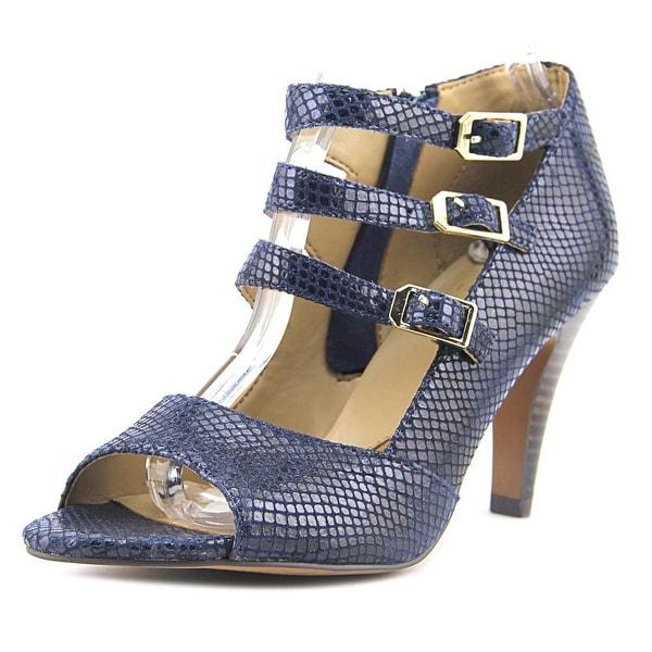 Isola Dara Women Open-Toe Suede Blue Heels