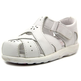 Stride Rite Tulip Toddler Round Toe Leather White Fisherman Sandal
