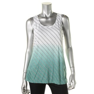 Two by Vince Camuto Womens Tribal Beat Striped Ombre Tank Top