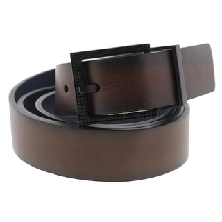 Kenneth Cole Reaction Mens Casual Belt Faux Leather Reversible