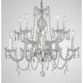 Crystal Chandelier Lighting With 10 Lights H25 x W24