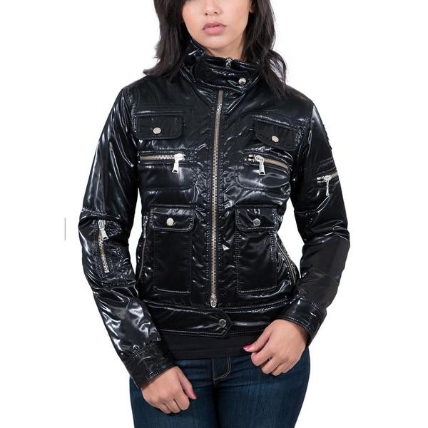 Shop Williams Wilson Aureka Nero Black Padded Women s Cropped Jacket ... 96fea23ea