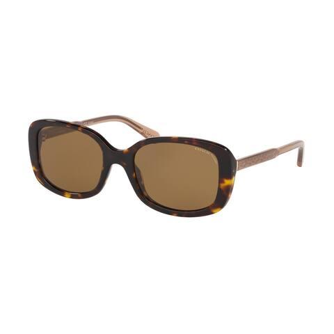 Coach HC8278 512083 53 Dark Tortoise Woman Rectangle Sunglasses