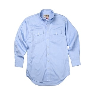 Schaefer Western Shirt Mens Classic Button Down Pima Pinpoint 7080