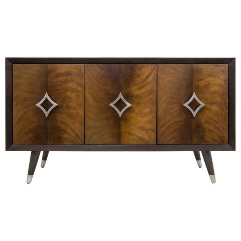 Yosemite Home Decor Luxor Brown Mahogany Wood Cabinet - 18 x 54 x 32