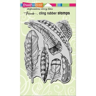 """Stampendous Cling Stamp 7.75""""X4.5""""-Feathers"""