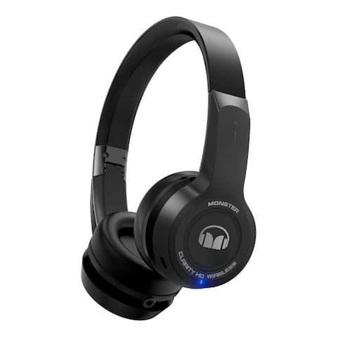 Monster ClarityHD Bluetooth Wireless Foldable On-Ear Headphones (Black)