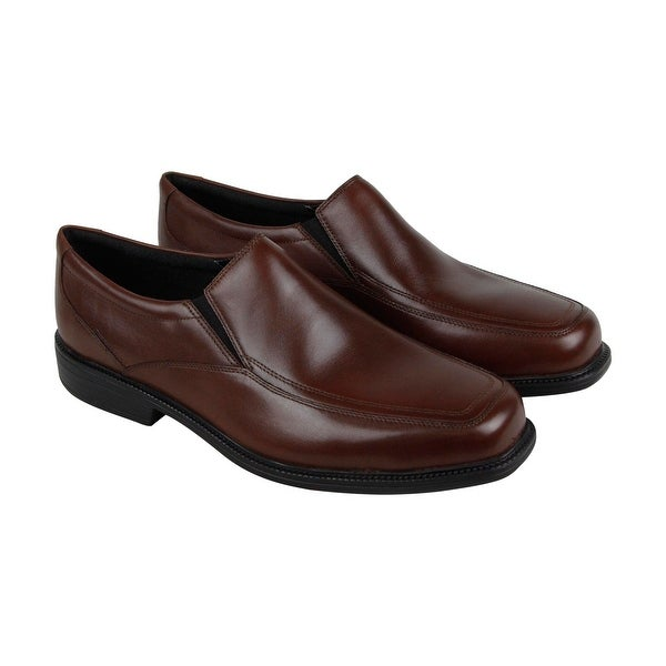 96421fe408ba0b ... Bostonian Mendon Mens Brown Leather Casual Dress Slip On Loafers Shoes  435252fdb8c ...