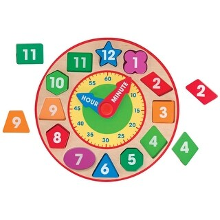 Link to Melissa & Doug Wooden Shape Sorting Clock Similar Items in Stuffed Toys