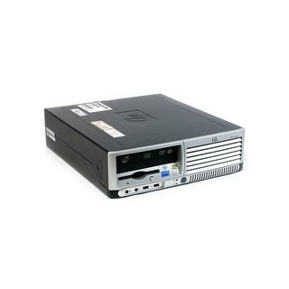 "HP Compaq dc7700 SFF Standard Refurb PC - Intel Core 2 Duo E6400 2.13 GHz 4GB DIMM DDR2 SATA 3.5"" 250GB DVD-ROM Windows 7 Home"