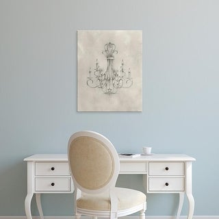 Easy Art Prints Ethan Harper's 'Chandelier Schematic IV' Premium Canvas Art