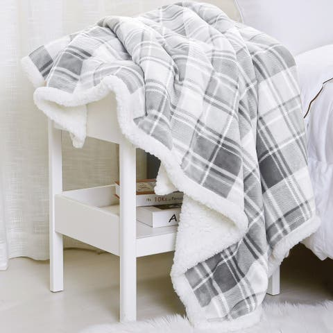 Sedona House Flannel to Sherpa Throw Blanket