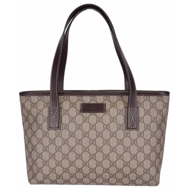 cbca36d91671 Gucci 211138 GG Supreme Canvas Medium Zip Top Handbag Purse Tote - 14
