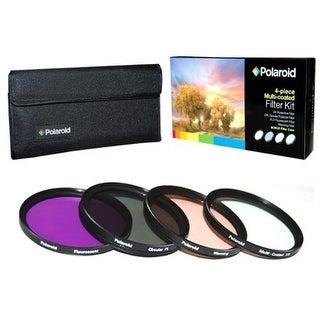 Polaroid Optics 77mm 4 Piece Camera Lens Filter Set (UV, CPL, FLD, WARMING)
