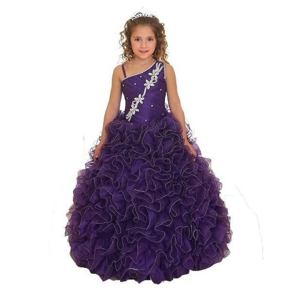 Little Girls Purple Pageant Dresses