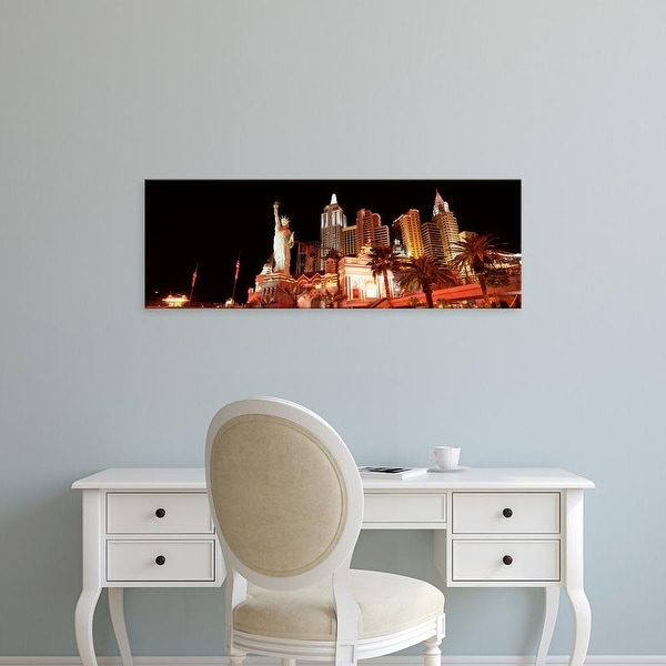 Easy Art Prints Panoramic Images's 'View of a hotel, New York New York Hotel, The Strip, Las Vegas, Nevada' Canvas Art