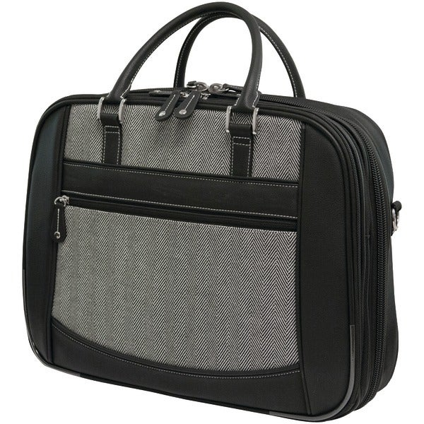 "Mobile Edge Mesfebhl 16"" Herringbone Large Checkpoint Friendly Notebook Bag"