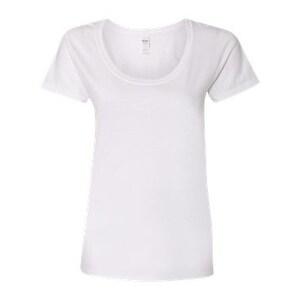 Softstyle Women's Deep Scoopneck T-Shirt - White - 3XL