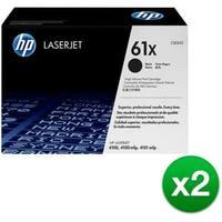 HP 61X High Yield Black Original LaserJet Toner Cartridge (C8061X) (2-Pack)