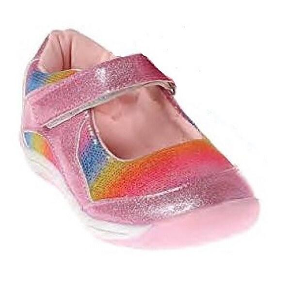 Laura Ashley Girls Toddler Shoes, Pink Multi, 7 M Us