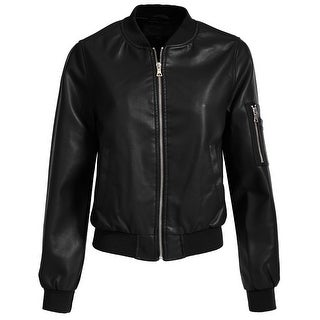 NE PEOPLE Women's Fitted Faux Leather Jacket with pockets [NEWJ98]