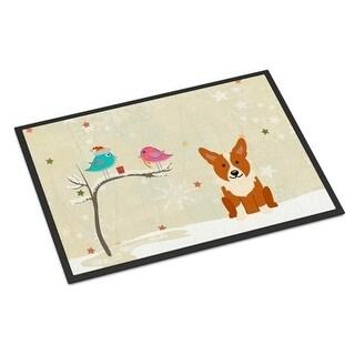 Carolines Treasures BB2572JMAT Christmas Presents Between Friends Corgi Indoor or Outdoor Mat 24 x 0.25 x 36 in.