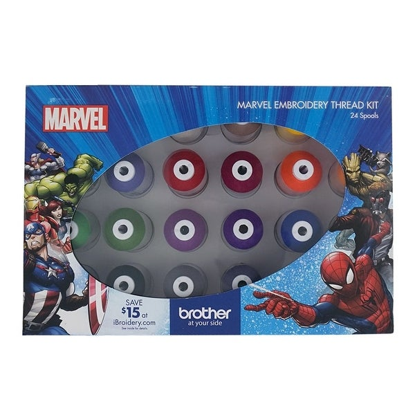 Shop Brother Marvel Embroidery Thread Kit Free Shipping Today