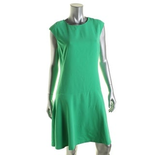 Lauren Ralph Lauren Womens Casual Dress Sleeveless Drop Waist