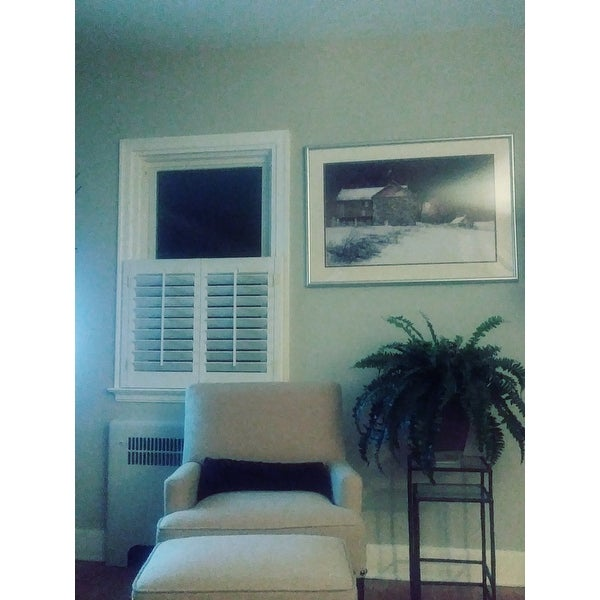 72 Inches 31 X 72 Overstock White 2 1//4 inch Slat Plantation Shutter 31 inches Wide